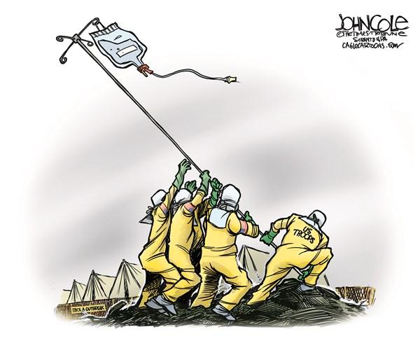 ebola troops
